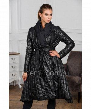 Пуховое пальто из кожиАртикул: M-18068-105-CH