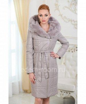 Зимнее пальто из экокожиАртикул: RS-581-100-2-SR-KR