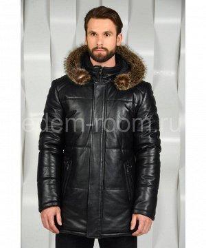 Зимняя мужская куртка с меховым капюшономАртикул: I-13394-EN