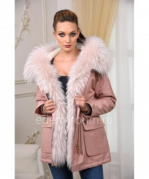Розовая парка-куртка с капюшономАртикул: V-1808-75-P-EN