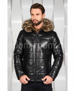 Зимняя мужская кожаная куртка с мехомАртикул: C-8203-EN