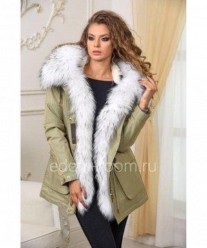 Парка-куртка с густым мехом енотаАртикул: V-1808-75-Z-EN