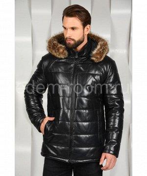 Зимняя мужская кожаная курткаАртикул: I-1630-1-EN