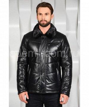 Зимняя кожаная куртка с норковым воротникомАртикул: C-8211-N