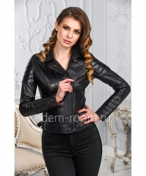 Турецкая кожаная куртка - косуха для женщиныАртикул: T-I-004-CH