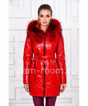Зимняя куртка из эко-кожиАртикул: RS-1788-RD