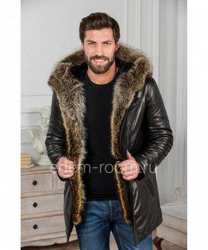 Стильная кожаная куртка для зимыАртикул: W-1819-85-2-EN