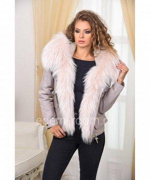 Куртка с шикарным мехом енотаАртикул: V-1812-65-SR-EN