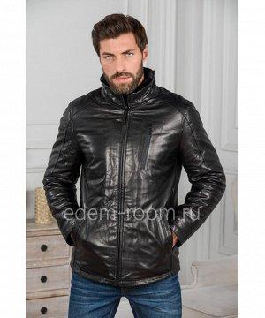 Мужская куртка из кожи - Зима 2019Артикул: W-1875-C