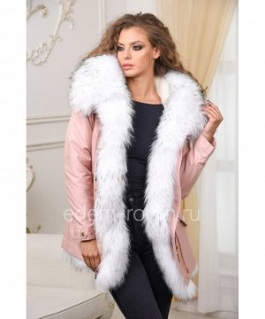 Молодёжная парка-куртка с мехом енотаАртикул: V-1810-70-R-EN