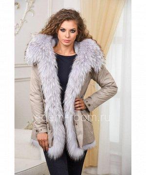 Модная меховая парка - курткаАртикул: V-1810-70-SR-EN
