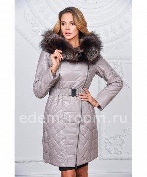 Женское пальто из искусственной кожи для зимыАртикул: R-520-SR