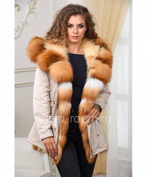 Меховая парка - куртка на енотеАртикул: V-17053-70-BG-L