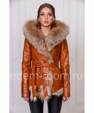 Куртка из эко-кожи и меха лисыАртикул: RS-211-R