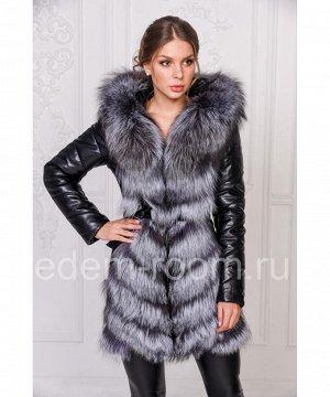 Зимняя куртка-жилетка из эко-кожиАртикул: RS-789-CH