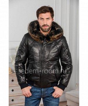 Кожаная куртка на резинкеАртикул: W-8011-65-2-EN