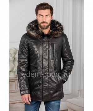 Классическая куртка из натуральной кожиАртикул: W-8008-2-L