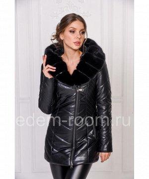 Зимняя куртка из эко-кожиАртикул: RS-653-3-N