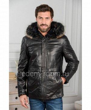 Зимняя куртка из кожи на ThinsulateАртикул: W-8010-2-L