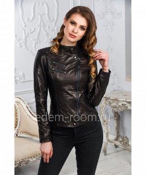 Женская кожаная куртка моднаяАртикул: LN-353-CH