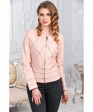 Женская кожаная куртка из розовой кожиАртикул: AL-1696-P