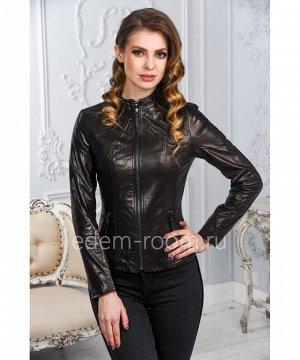Женская кожаная куртка из натуральной кожи. Новинка!Артикул: LN-357-3-CH