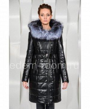 Зимнее пальто из эко-кожиАртикул: EN-26837-CH