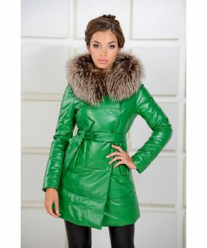 Новая коллекция! Яркий зеленый женский пуховикАртикул: 13L5051-Z