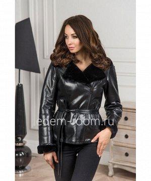 Кожаная дубленка - куртка укороченнаяАртикул: V-6910-60-CH