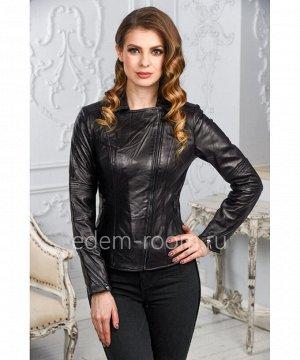 Женская кожаная куртка из натуральной кожи черного цветаАртикул: LN-352-CH