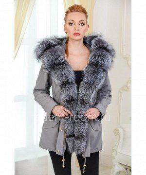 Куртка - парка с мехом чернобуркиАртикул: TG-5913-75-SR-CH