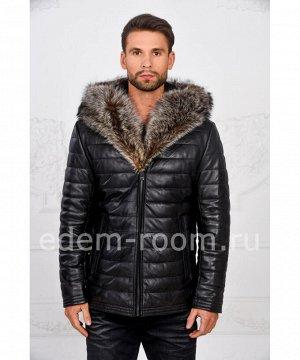 Мужская утеплённая куртка с меховым капюшономАртикул: I-83112-EN