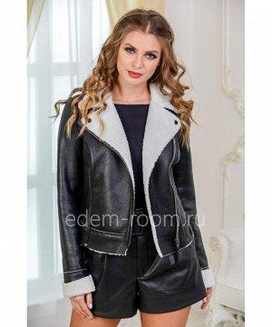Укороченная дубленка - курткаАртикул: D-1317-50-CH