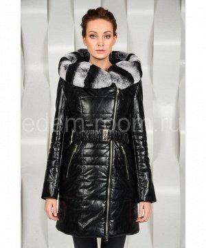 Молодёжное пальто из экокожиАртикул: R-1808-KR