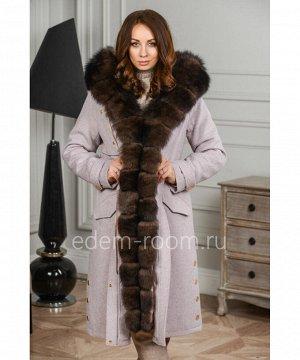 Кашемировое пальто - парка с мехомАртикул: SN-28264-2-105-P-P