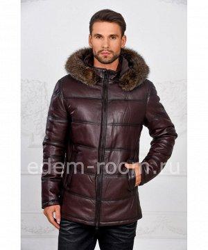 Коричневая куртка с капюшоном на утеплителеАртикул: I-1855-K-EN