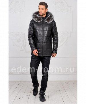 Зимняя куртка из кожи для мужчинАртикул: I-1855-CH-CH