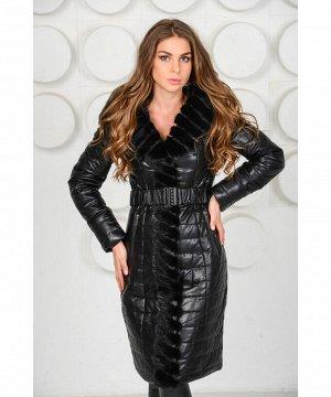Красивое пальто украшенное мехом норкиАртикул: RL-653-N