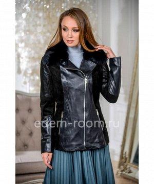 Женская кожаная куртка для осениАртикул: S-1902-65-P