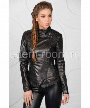 Весенняя женская кожаная куртка из натуральной кожиАртикул: LN-327