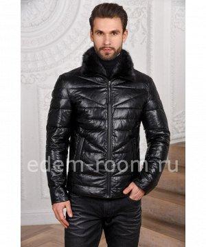 Мужская куртка из экокожиАртикул: IK-876-CH-N