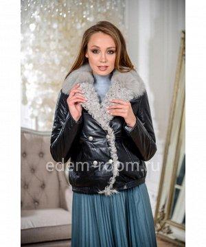 Демисезонная кожаная курткаАртикул: S-19125-55-CH-BR