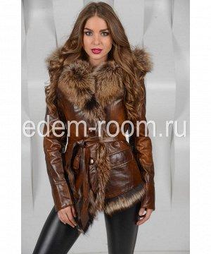 Куртка из эко-кожи с мехомАртикул: RL-211-K