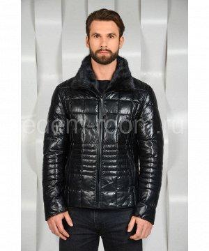 Зимняя мужская куртка из экокожиАртикул: I-671-N