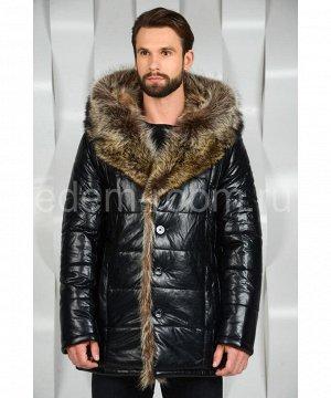 Зимняя куртка из эко-кожи с мехомАртикул: I-666-EN