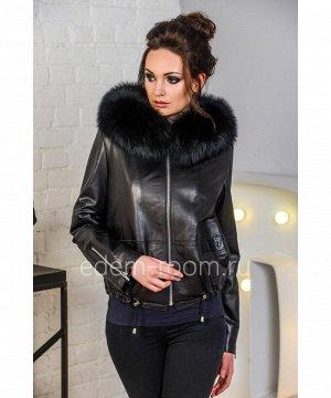 Кожаная куртка на тинсулейтеАртикул: AL-8759-2-60-P