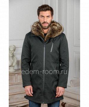 Чёрная куртка с капюшоном и мехомАртикул: iG-006-2-CH-EN