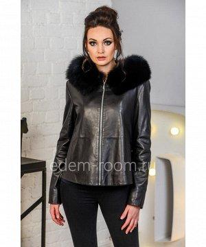 Весенне - осенняя кожаная куртка с утеплителемАртикул: AL-8757-2-60-P