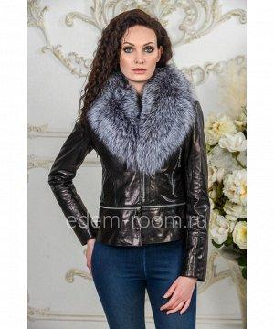 Осенне- весенняя кожаная куртка с мехомАртикул: AL-19029-55-CH