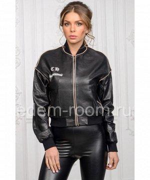 Женская кожаная куртка - бомберАртикул: M-17138-CH